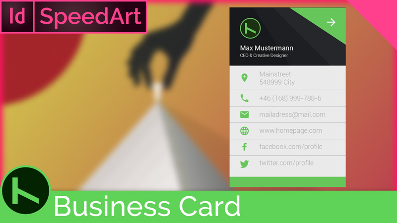SpeedArt InDesign – Material Business Card
